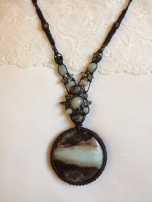 תליון אבן אמזונייט - נמכרה