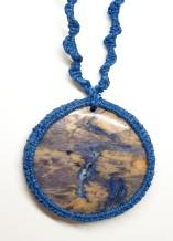 שרשרת מאבן קריסטל כחולה סודלייט