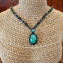 שרשרת אבן טורקיז טיבטי - נמכרה. ניתן להזמין מאבן דומה