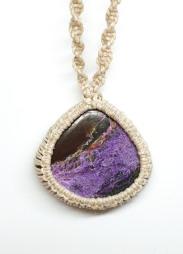 שרשרת מקרמה אבן סגולה - פיורפיורייט / סטיצ'טייט