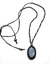 שרשרת אבן פושסייט, רובי, קיאנייט עם חרוזי אקוומרין נמכרה. להזמנת שרשרת דומה וואטסאפ 054-9453070