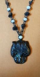 שרשרת אבן פנתר מג'ספר שחור - נמכרה