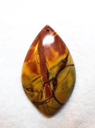 אבן פיקאסו ג'ספר מוחלקת למקרמה