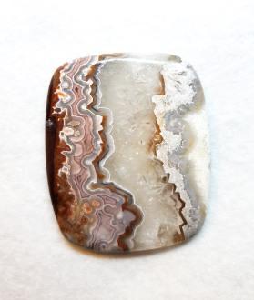 אבן קרייזי לייס אגת מוחלקת גדולה ליצירת מאלה